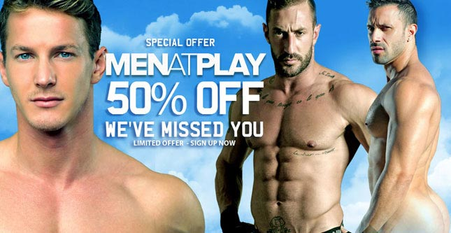 50% off Men At Play membership- for one week only