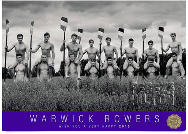 British Warwick rowers go naked and full frontal!