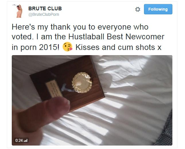 Brute Club thanks fans for Hustlaball Best Newcomer win
