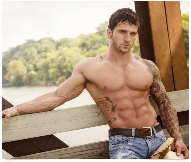 Fitness model Gary Taylor shows off shirtless & naked