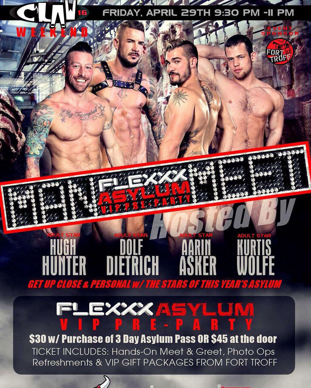 Hugh Hunter & Dolf Dietrich at Flexx party