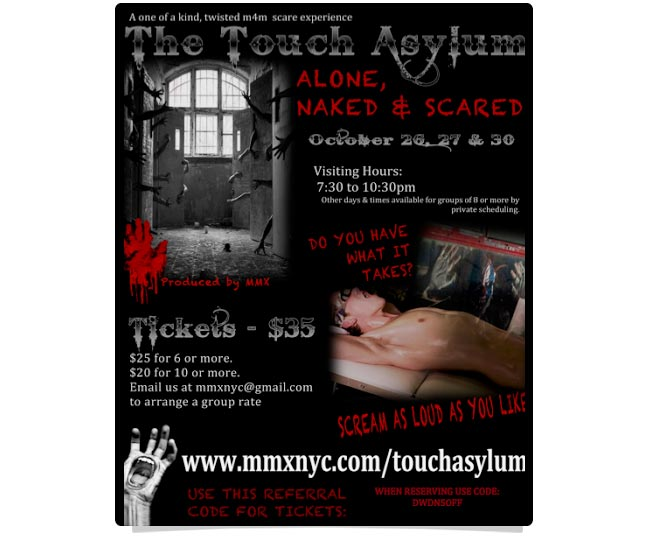 The Touch Asylum- get sexually assaulted for Halloween