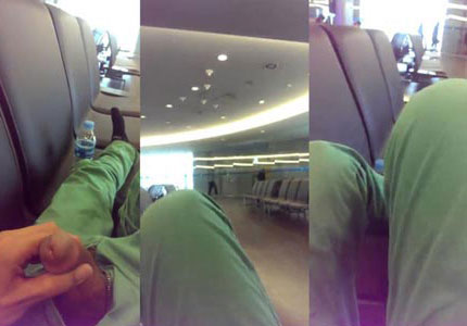 jerking-in-the-airport-waiting-lounge
