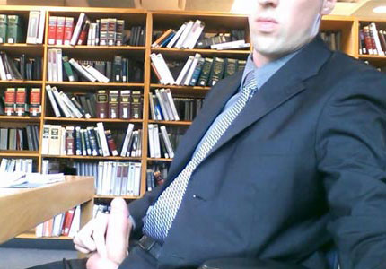 library-wanking-suit