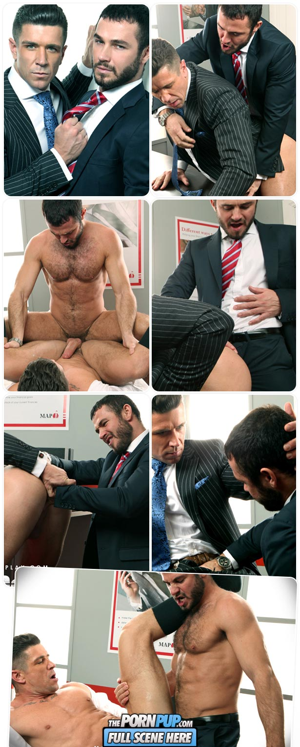 Jessy Ares fills out a suit & Trenton Ducati's ass