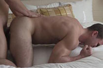 Michael Evans picks up Cole Money's hairy legs and fucks his ass
